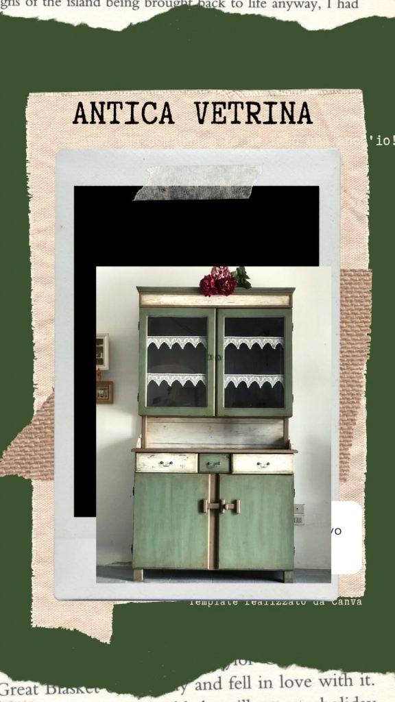 relooking antica vetrina country style laboratori artistici la maison ninì